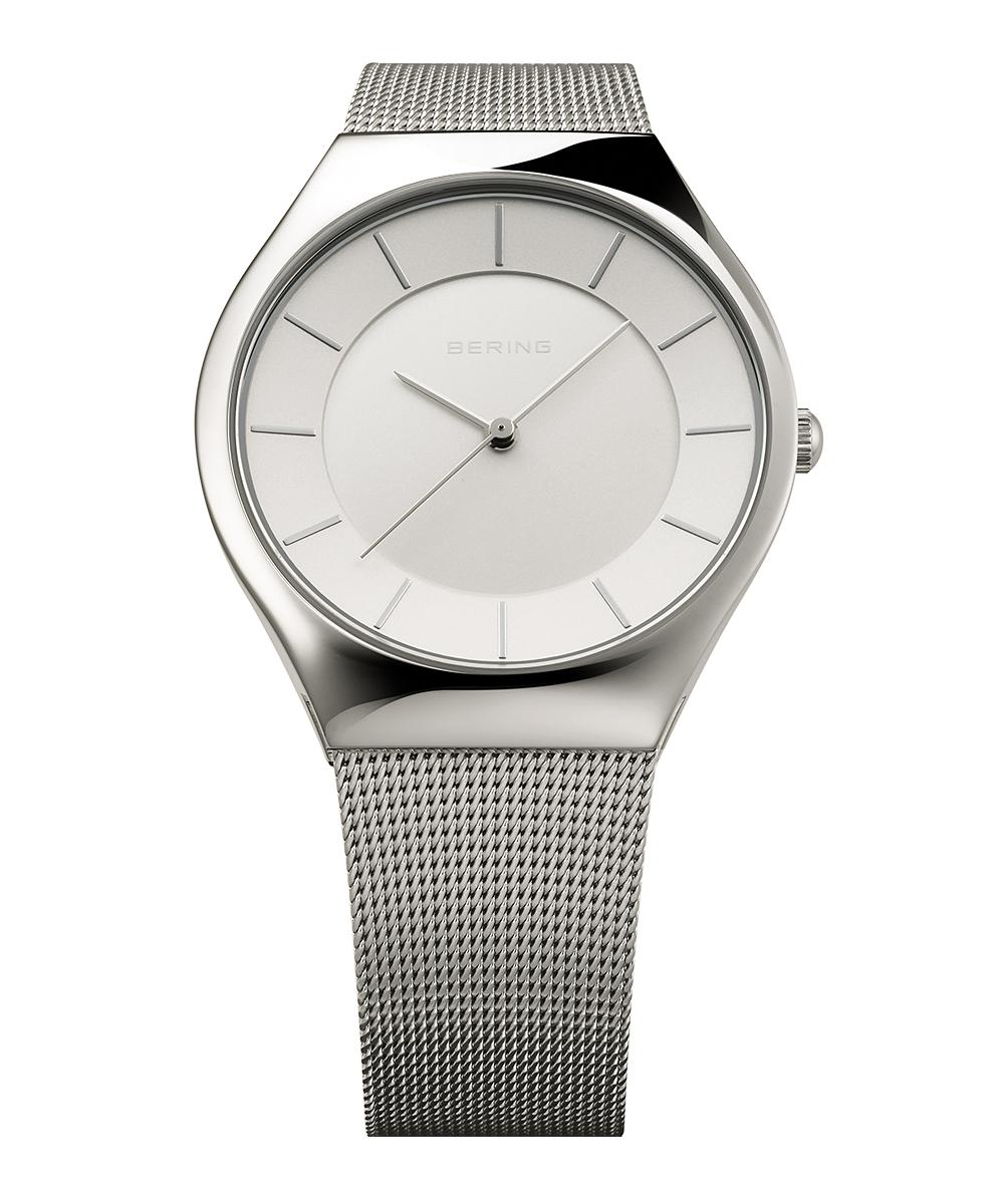 BERING10th Anniversary Watch ホワイト×シルバー