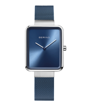 BERING Ladies Smart Square シルバー×ブルー