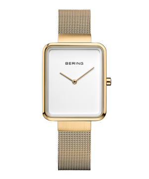 BERING Ladies Smart Square ホワイト×ゴールド