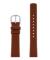 1607 Leather Strap 34mm ブラウン×シルバー