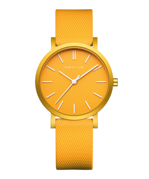 BERING Unisex True Aurora 34mm mat yellow 16934-699