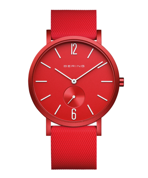 BERING Unisex True Aurora 40mm mat red 16940-599