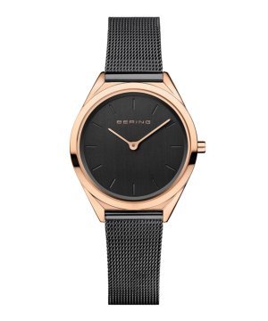 BERING Ladies Ultra Slim 17031-166 ブラック×ゴールド