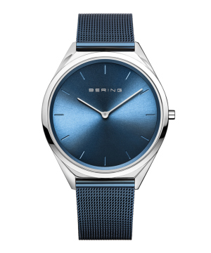 BERING Unisex Ultra Slim 17039-307 ブルー×シルバー