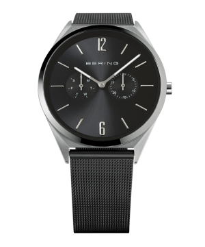 BERING Mens Slim Multifunction ブラック×シルバー