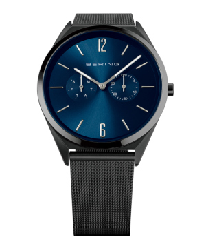 BERING Mens Slim Multifunction ブルー×ブラック