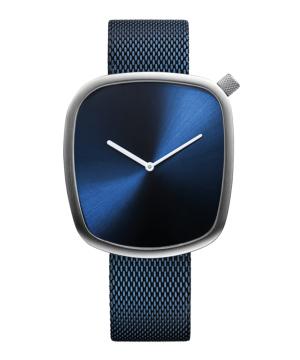 BERING KiBiSi Pebble Watch 40mm ブルー×シルバー