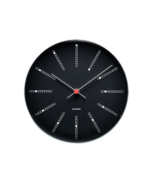 WALL CLOCK BANKERS BLACK 290mm ブラック×レッド