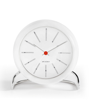 ARNE JACOBSEN Table Clock Bankers ホワイト