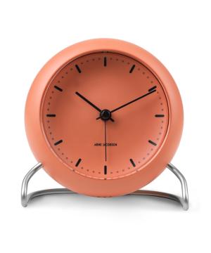 ARNE JACOBSEN TABLE CLOCK CITY HALL ペールオレンジ