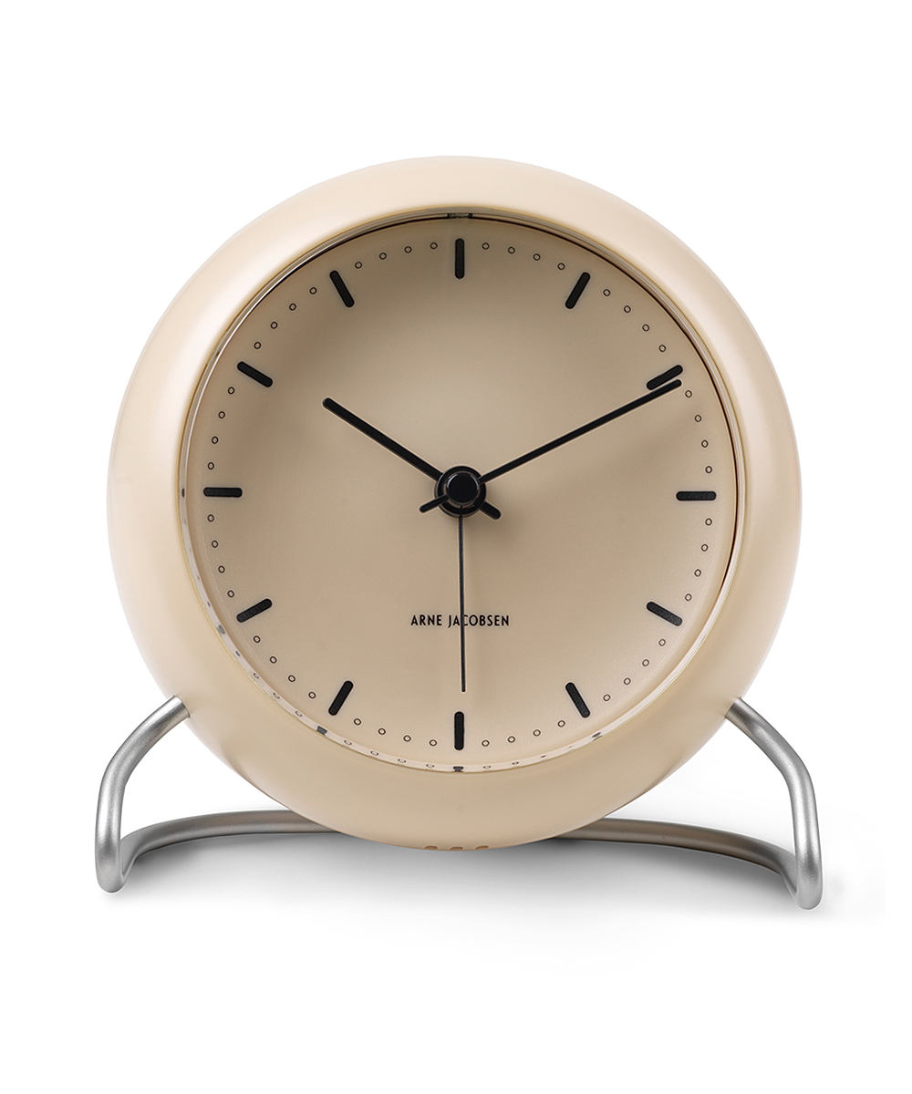 ARNE JACOBSEN TABLE CLOCK CITY HALL サンディベージュ