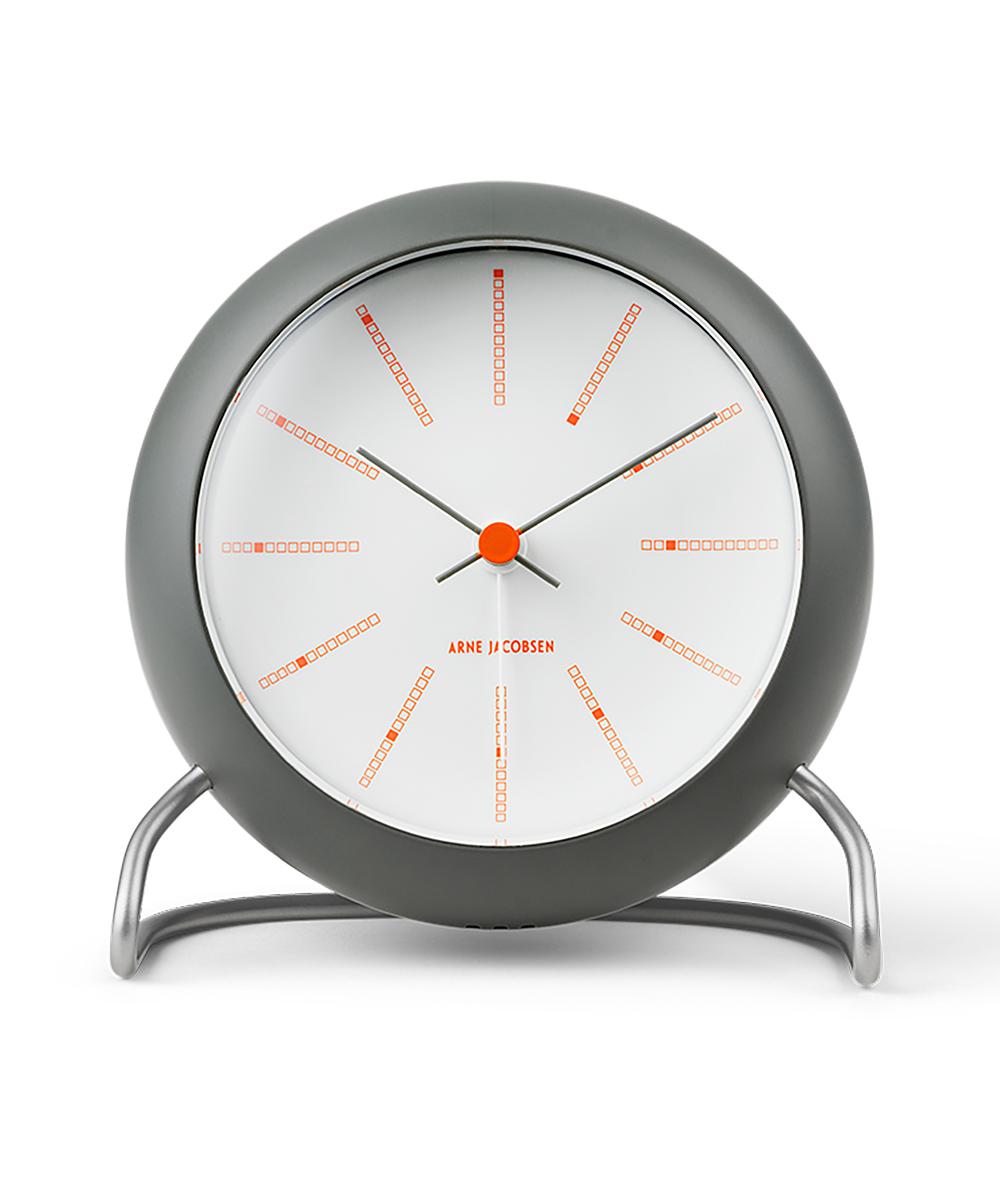 ARNE JACOBSEN BANKERS 50th Anniversary TABLE CLOCK グレー×ホワイト×オレンジ