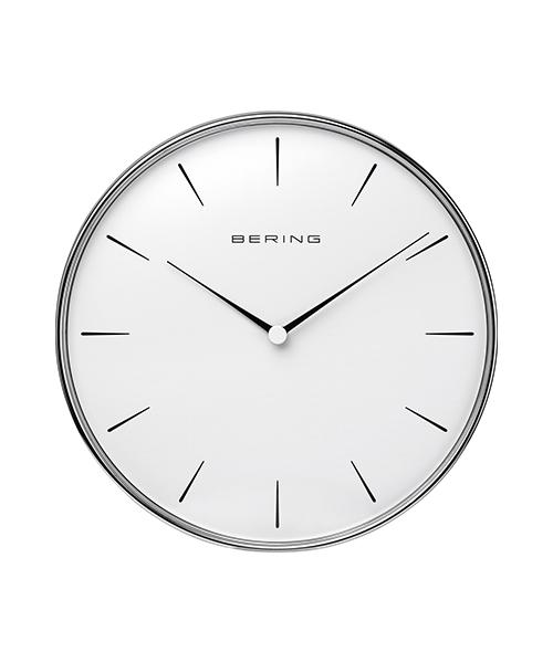 WALL CLOCK 90292-04R ホワイト×シルバー