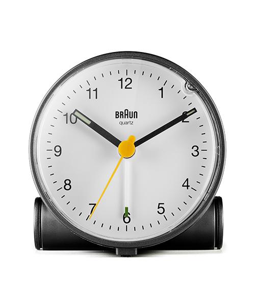 Classic Analog Alarm Clock BC01BW ホワイト×ブラック