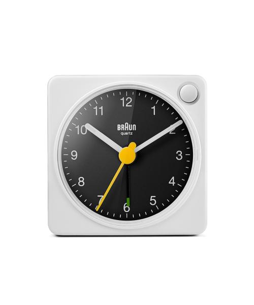 BRAUN Analog Alarm Clock BC02XWB ホワイト×ブラック