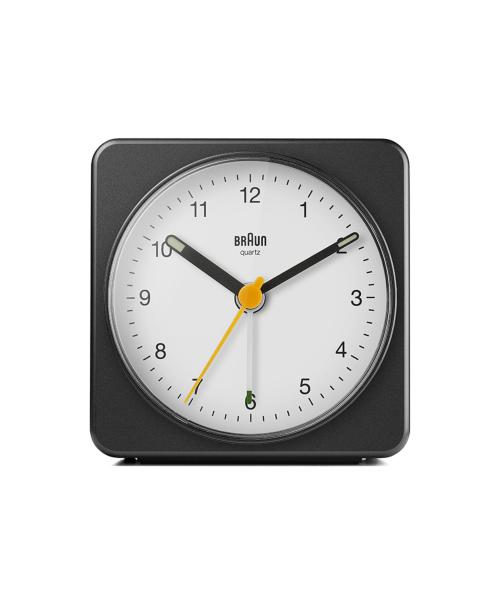 BRAUN Analog Alarm Clock BC03BW ブラック×ホワイト