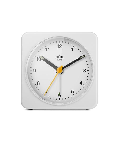 BRAUN Analog Alarm Clock BC03W ホワイト