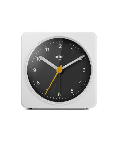 BRAUN Analog Alarm Clock BC3WB ホワイト×ブラック