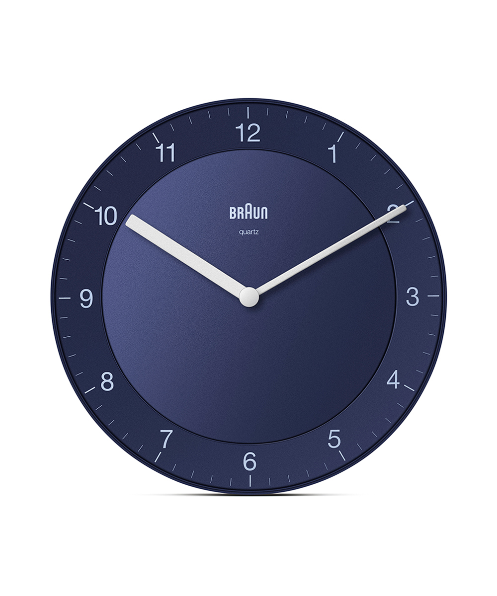 BRAUN Wall Clock BC06 ブルー×ホワイト