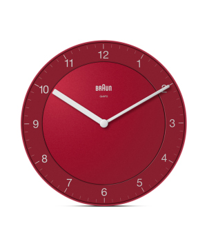 BRAUN Wall Clock BC06 レッド×ホワイト
