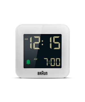 Digital Alarm Clock BC08W ホワイト