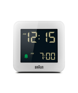 Digital Alarm Clock BC09W ホワイト