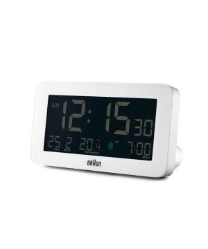 BRAUN Digital Alarm Clock ホワイト×ブラック