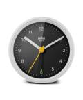 Classic Analog Alarm Clock BC12WB ホワイト×ブラック