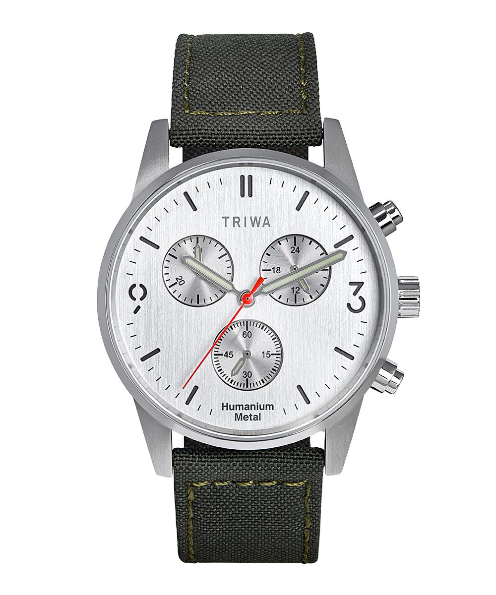 TRIWA HU39 CHRONO  シルバー×グリーン HU39LCS-CL080912P