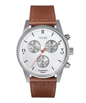 TRIWA HU39 CHRONO ホワイト×シルバー×ブラウン HU39LCS-SC010212P