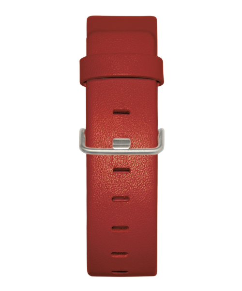 JACOB JENSEN Strata 36mm Leather Strap Red