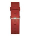 JACOB JENSEN Strata 36mm Leather Strap Red