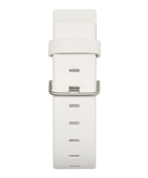 JACOB JENSEN Strata 36mm Leather Strap White