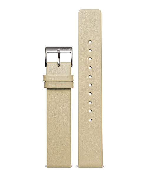 LEATHER STRAP CREEM L006