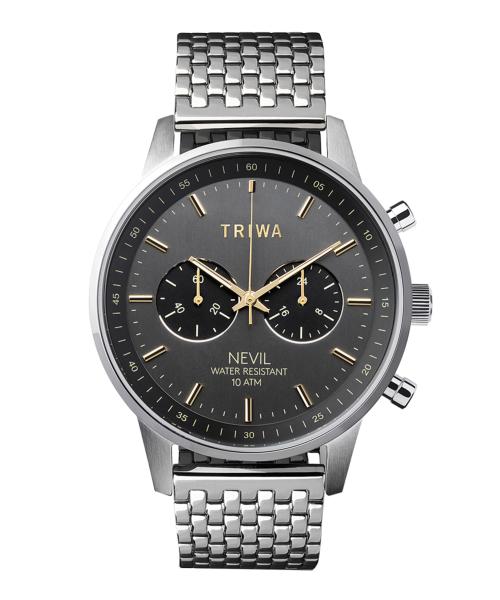 TRIWA SMOKEY NEVIL NEST114-BR021212 ブラック×シルバー