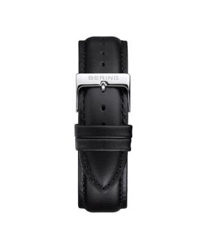 BERING Changes 14240 series Leather strap ブラック×シルバー
