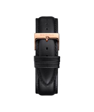 BERING Changes 14240 series Leather strap ブラック×ローズゴールド