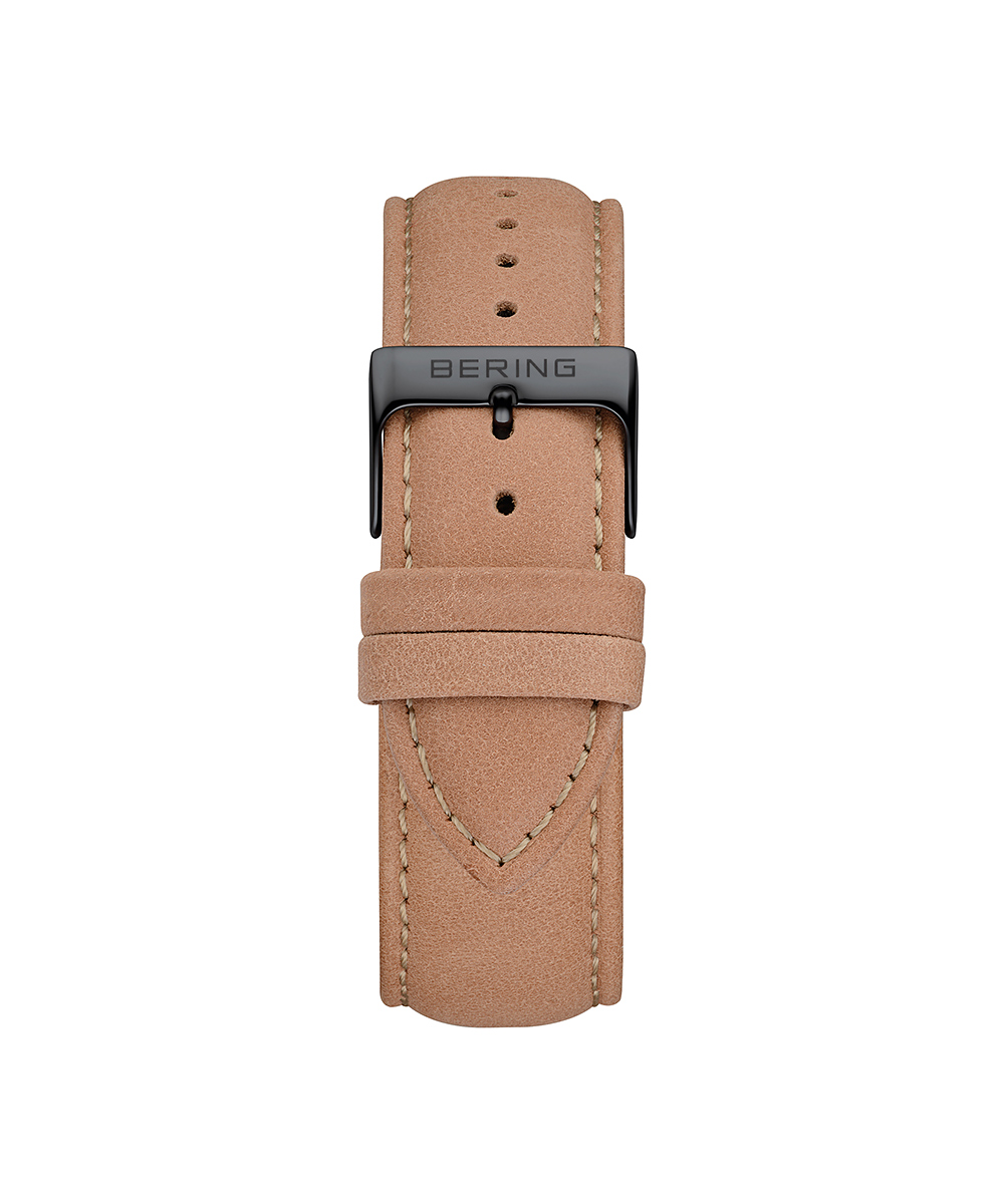 BERING Changes 14240 series Leather strap ベージュ×ブラック