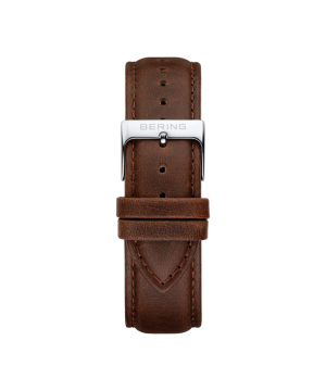 BERING Changes 14240 series Leather strap ブラウン×シルバー