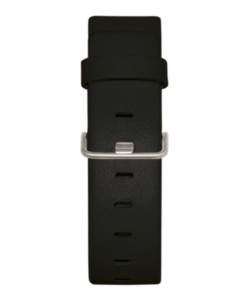 JACOB JENSEN Strata 36mm Leather Strap Black