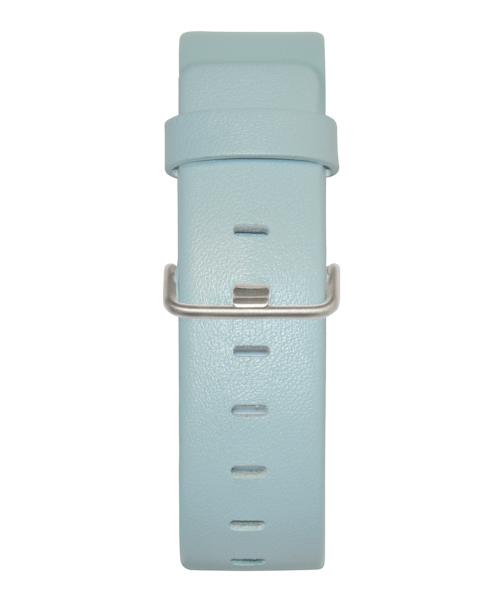 JACOB JENSEN Strata 36mm Leather Strap Light Blue